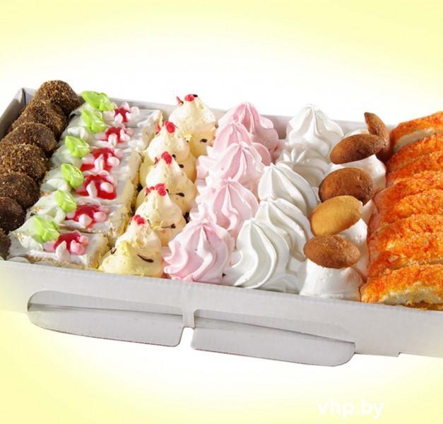 двухцветные пирожные